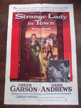 Strange Lady in Town, Movie Poster, Western, Greer Garson, Dana Andrews '55